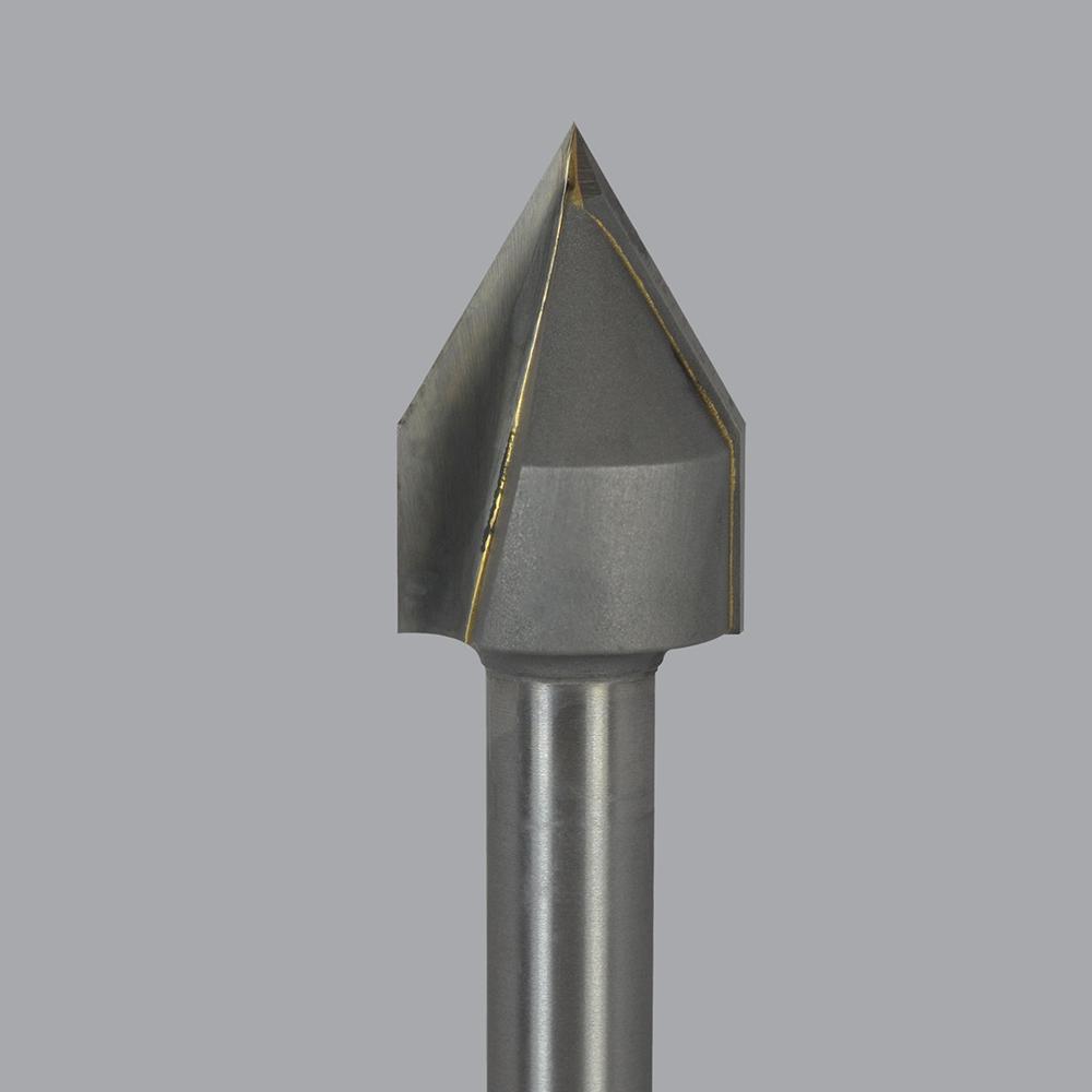 Set of 2 bits LMT Onsrud #37-82 Carbide Tipped Router 2 Flute Lettering Bit